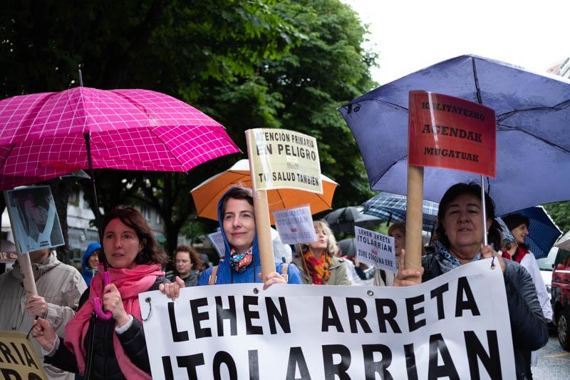 Marcha de la Atención Primaria en Donostia el pasado mes. Foto: Santiago Farizano
