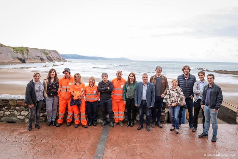 Inicio de temporada de playas desde el Flysch. Foto: Diputación