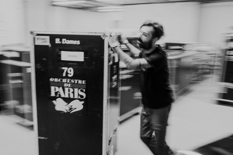 Los instrumentos de la Orquesta de París cuando estaban aún sin desembalar. Fotos: Santiago Farizano