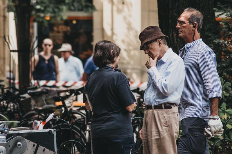 Woody Allen en la plaza Gipuzkoa. Fotos: Santiago Farizano