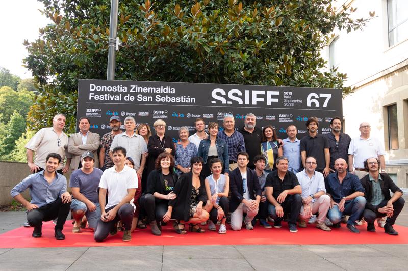 Los representantes del cine vasco. Fotos: Santiago Farizano
