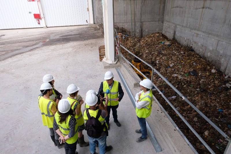 Visita oficial a la planta de biometanización. Fotos: Santiago Farizano
