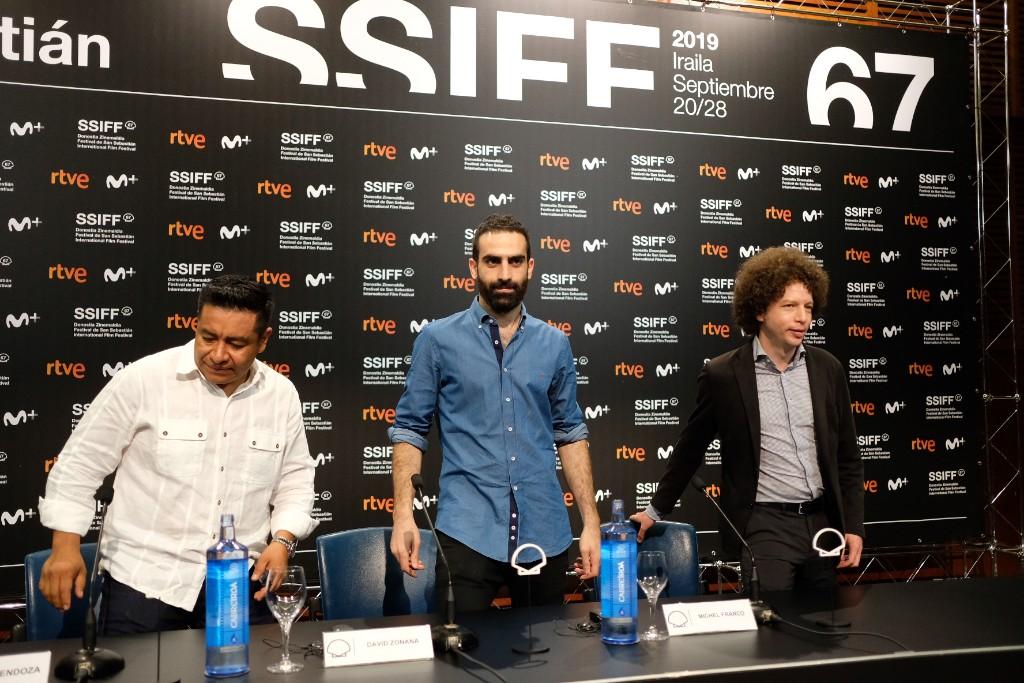Hugo Mendoza, David Zonana y Michel Franco, equipo de 'Mano de obra'. Fotos: Santiago Farizano