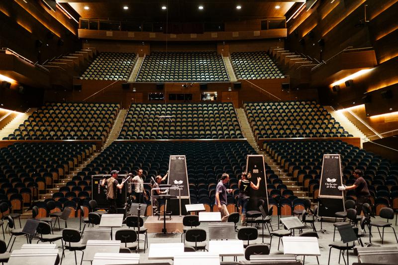 Montaje de la Ópera de París en el escenario del Auditorio del Kursaal en septiembre de 2019. Foto: Santiago Farizano