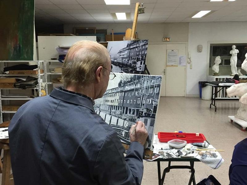 Taller en la Asociación Artística de Gipuzkoa. Foto: asociacionartistica.org.