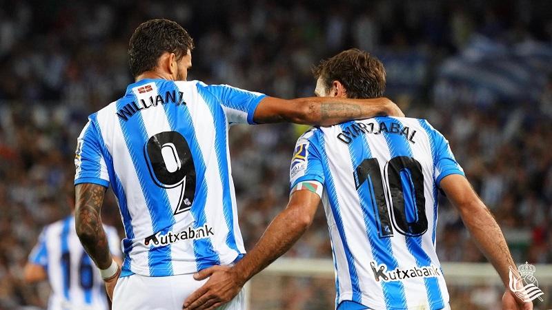 Willian José y Oyarzabal, los goleadores. Foto: Real Sociedad.