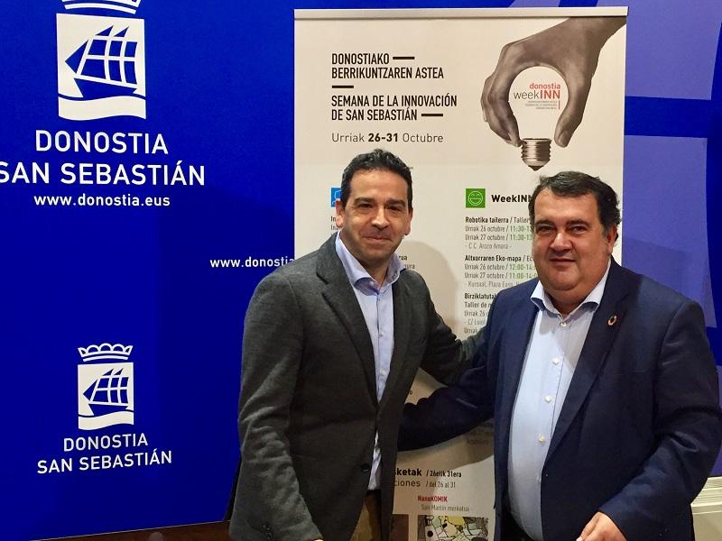 El diputado Imanol Lasa y el concejal Ernesto Gasco. Foto: Ayto.