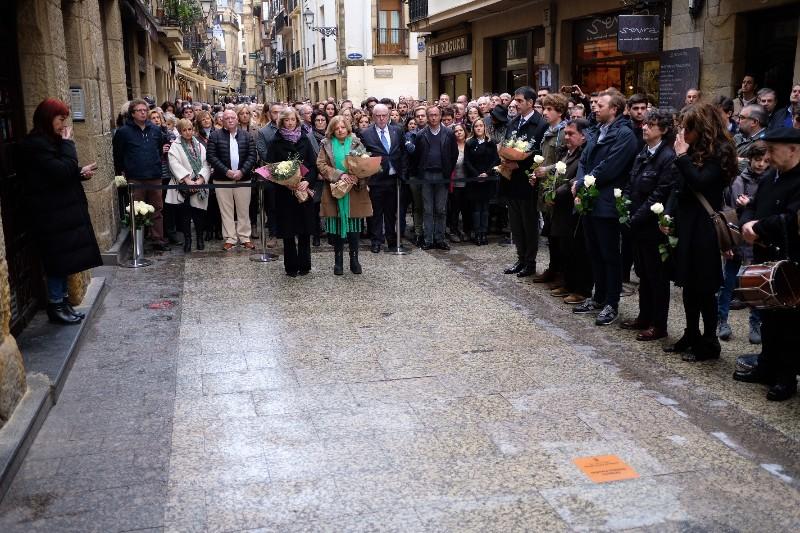 Día de la inauguración de la placa, el pasado 25 de enero. Foto: Santiago Farizano