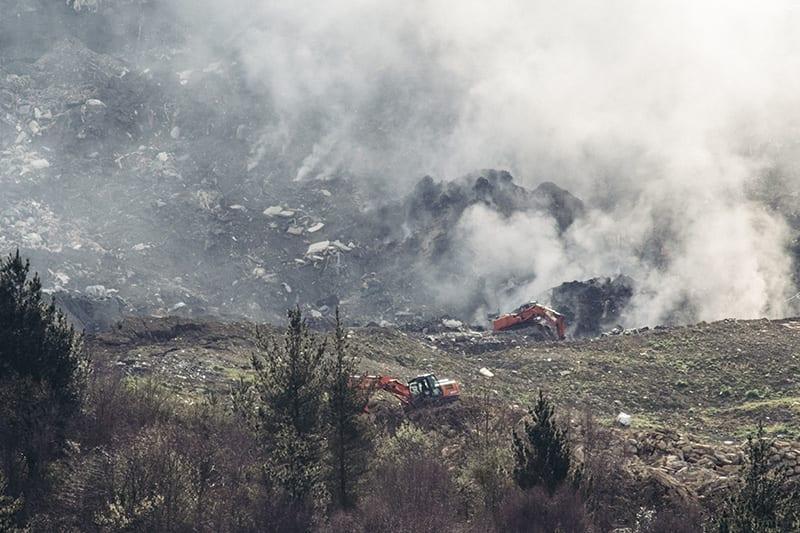 Vertedero de Zaldibar a los días de la tragedia. Foto: Santiago Farizano