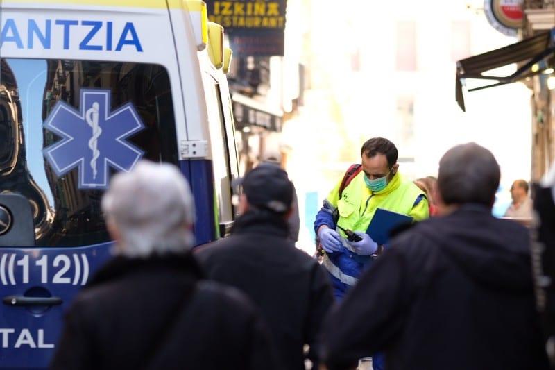 El coronavirus presente en Donostia. Foto: Santiago Farizano