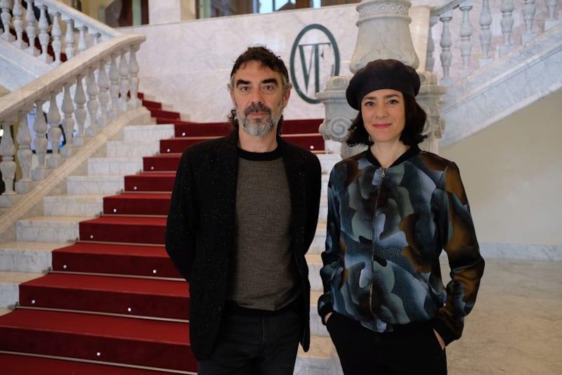 Los cuerpo celestes, Marco Vargas y Cloé Brûlé. Foto: Santiago Farizano