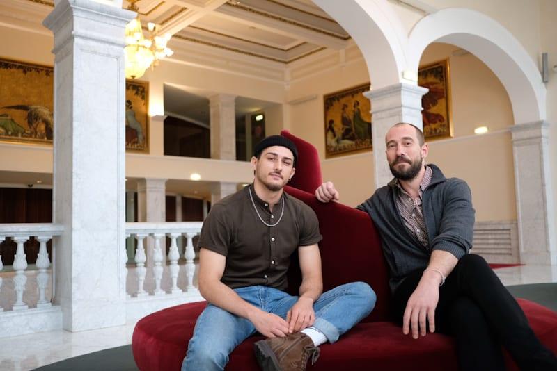 "Victor Fernádez e Igor Calonge, directores de ""Reverso"". Foto: Santiago Farizano"