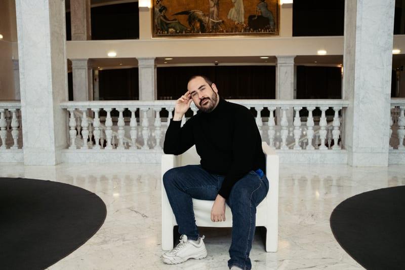 """Alberto Velasco, director de """"Cuando todo cambia (Clic)"""". Foto: Santiago Farizano"""