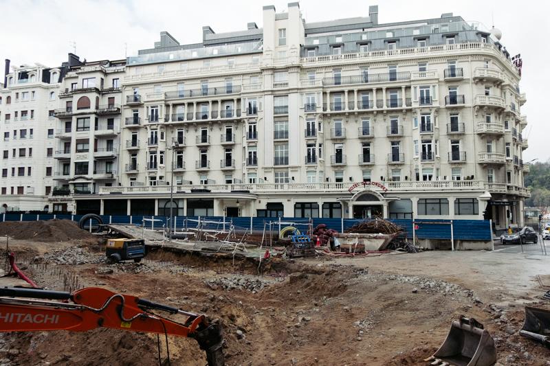 Imagen de archivo. Las obras del metro junto al Hotel de Londres. Foto: Santiago Farizano