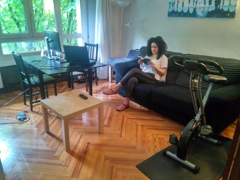 María Ferrero en su casa de la Avenida Madrid. Foto: DonostiTik