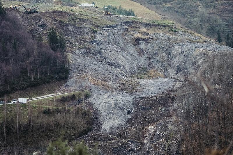 Vertedero de Zaldibar tras el derrumbe. Foto: Santiago Farizano