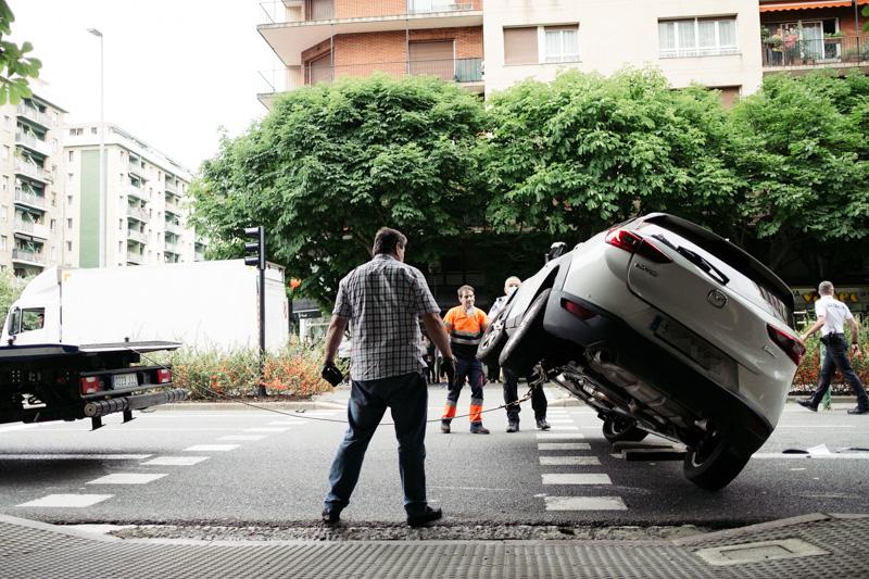 Accidente en la Avenida de Madrid. Fotos: Santiago Farizano