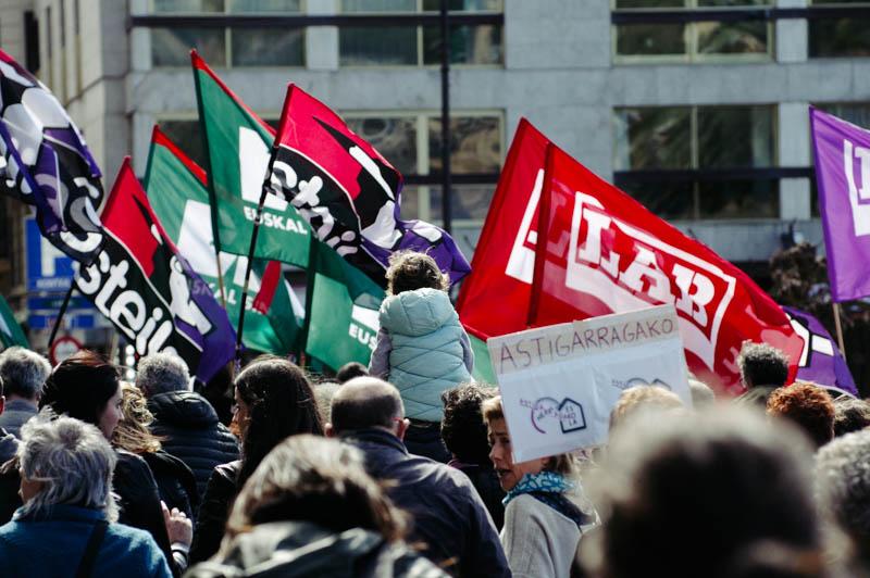 Protesta de los sindicatos de educación. Imagen de archivo. Foto: Santiago Farizano