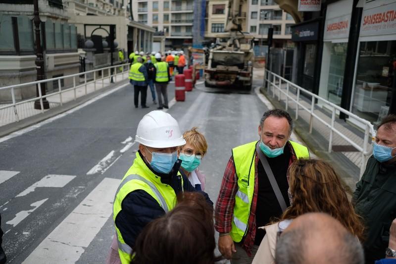 Imagen de la situación en la calle Zubieta tras el socavón del 5 de junio. Foto: Santiago Farizano