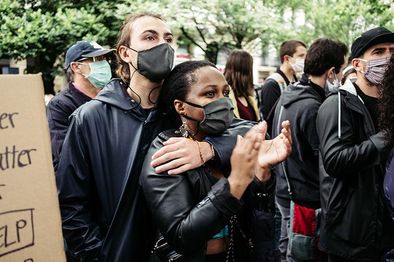 DSCF5055 Donostia se une al clamor mundial contra el racismo