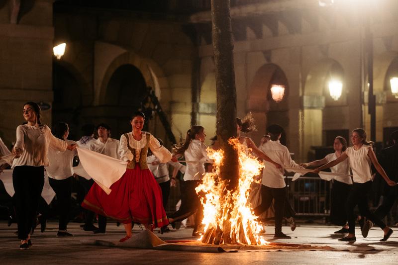 DSCF8648 2 Una hoguera de San Juan en otro capítulo de la pandemia en Donostia