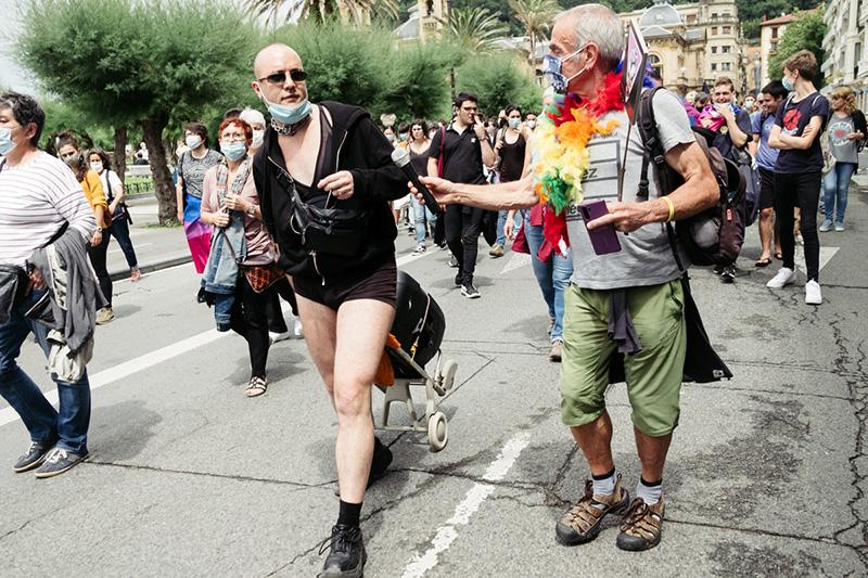 DSCF9306 800 Arcoíris y manifestación en Donostia en el Día del Orgullo LGTBI