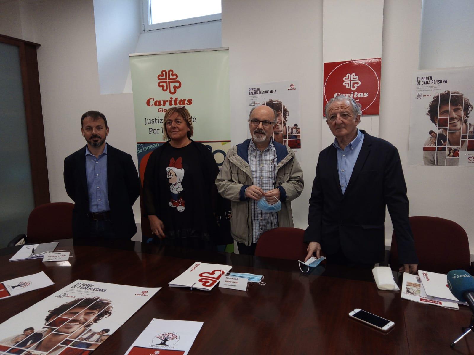 Presentación de la Memoria de Caritas esta mañana en el Paseo de Salamanca. Foto: A.E.