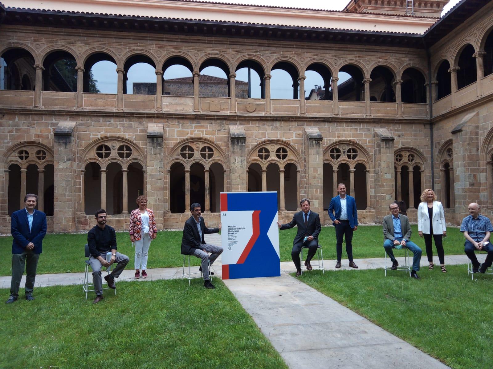 Imagen de archivo. Presentación de la Quincena Musical en el claustro de San Telmo. Foto: A.E.