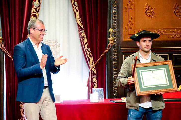 Premio a la sidrería Zapiain. Foto: Diputación Foral de Gipuzkoa