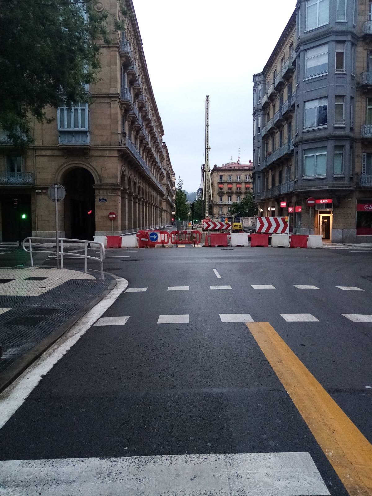 La calle San Martín ya cerrada. Foto: Ayto