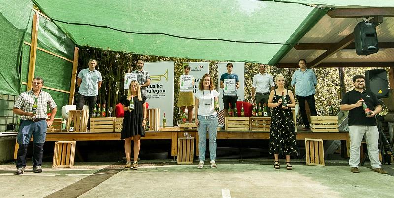 Presentación de la campaña La sidra nos une esta mañana. Foto: GIPUZKOAKO SAGARDOGILEEN ELKARTEA