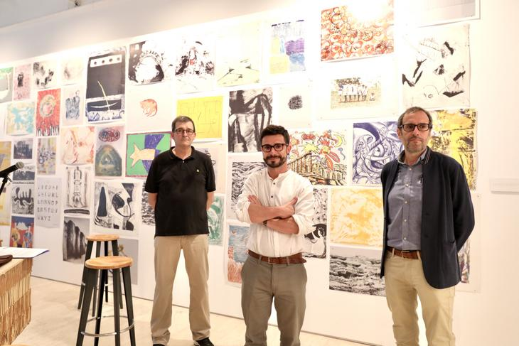 Harkaitz Millan, Mariano Arsuaga y Javier Balda. Foto: Diputación Foral de Gipuzkoa