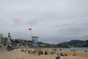 2020 0810 17142600 copy 1024x683 300x200 - Baño interrumpido por la posible presencia de un tiburón azul en las playas de Donostia