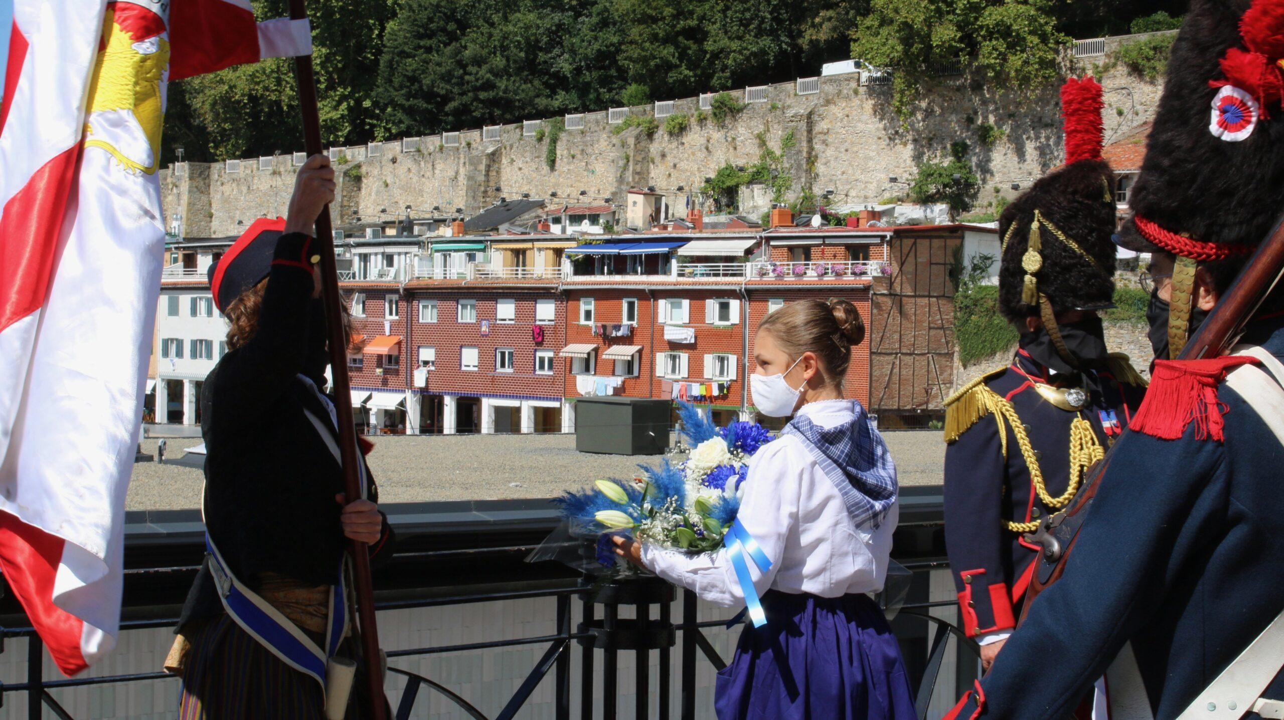 Homenaje en una conmemoración muy distinta del 31 de Agosto. Foto: Ayto