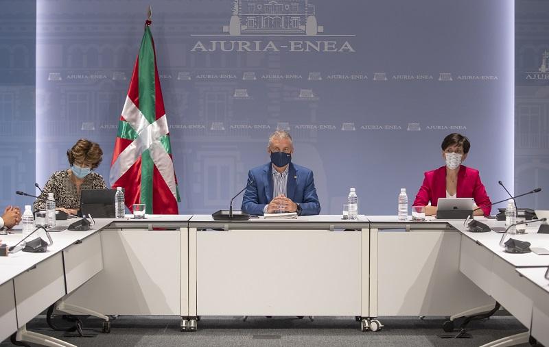 Reunión del Gobierno vasco esta mañana para valorar la situación frente al Covid-19. Foto: Gobierno vasco