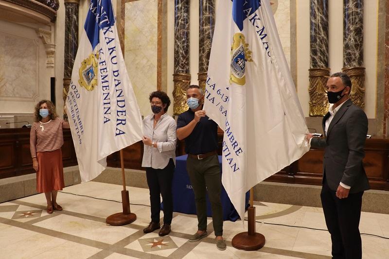 Presentación de la Bandera de la Concha 2020. Foto: Ayto.