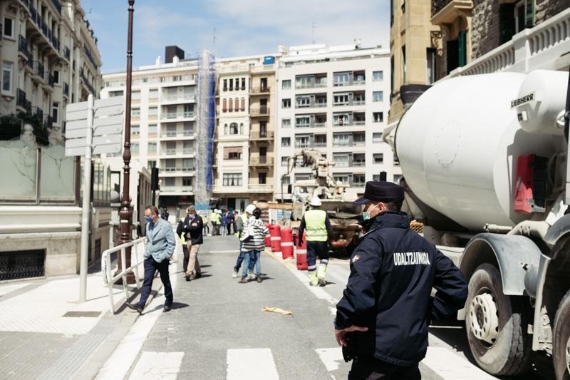 Imagen del 5 de junio tras el socavón provocado por las obras del Metro. Foto: Santiago Farizano
