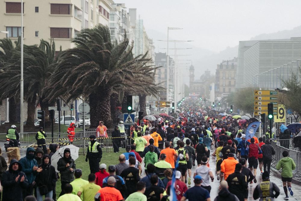 Imagen de la Behobia-San Sebastián el pasado año. Foto: Santiago Farizano