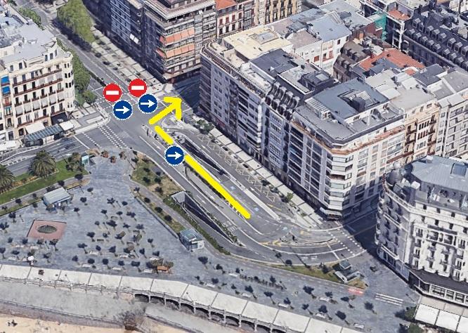 Vista aérea de la intersección entre la Avenida de la Libertad y las calles Miramar y Urbieta. Foto: RACVN