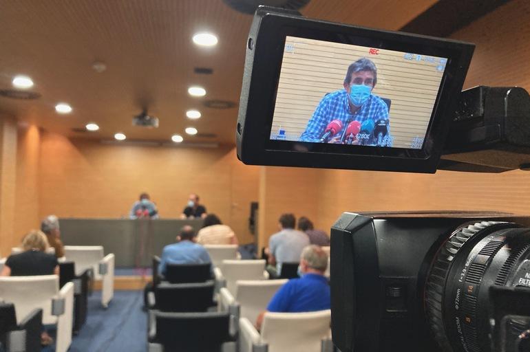 Comparecencia hoy de Josu Zubiaga. Foto: Gobierno vasco
