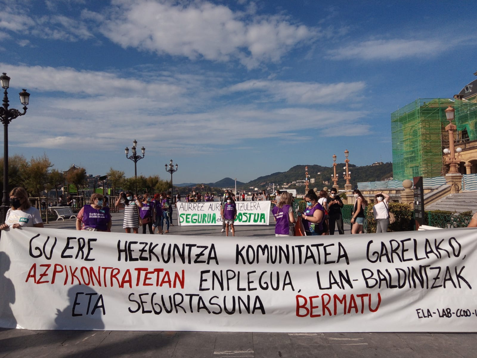 """IMG 20200915 WA0002 - Huelga en la enseñanza vasca: """"En los colegios no hay EPIs, hay caos"""""""