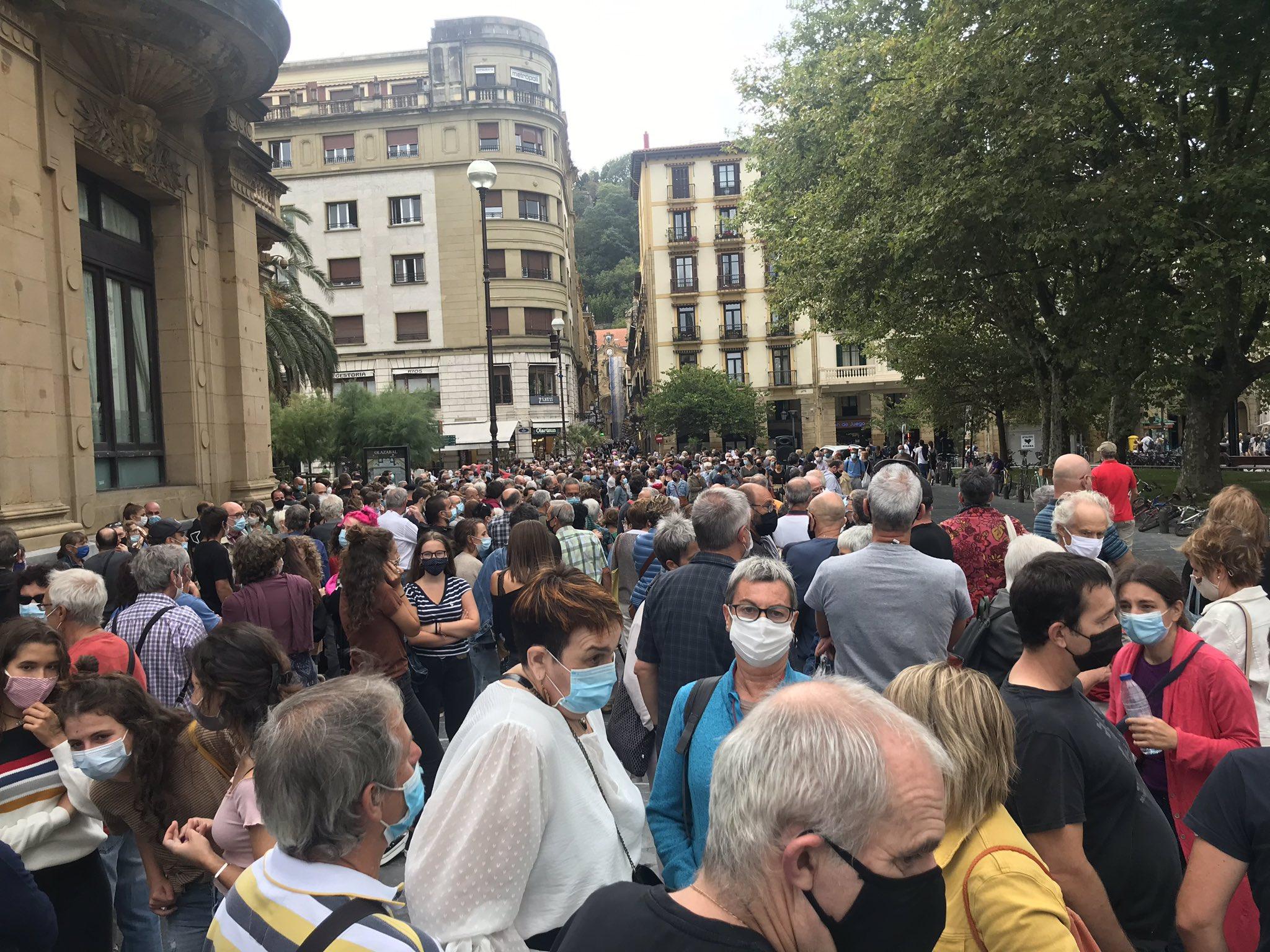 Concentración hoy en Donostia. Foto: EH Bildu