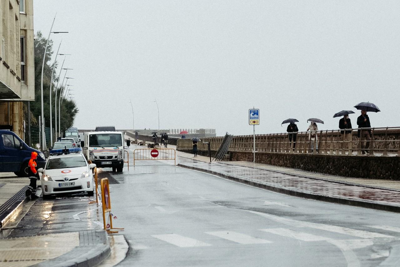 El Paseo Nuevo esta mañana, antes del cierre también para peatones. Foto: Santiago Farizano