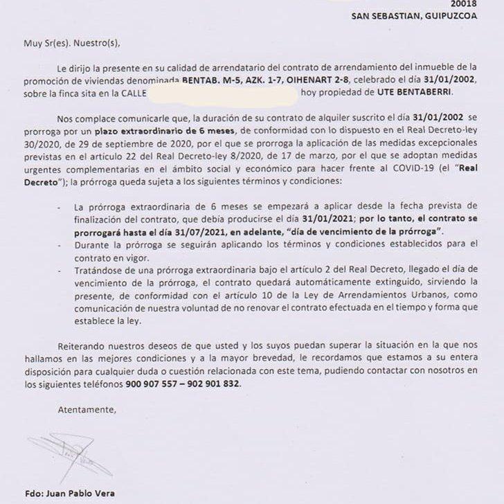 """Alokairu - Nuevas cartas a los vecinos de Benta Berri para sumar """"preocupación y miedo"""""""