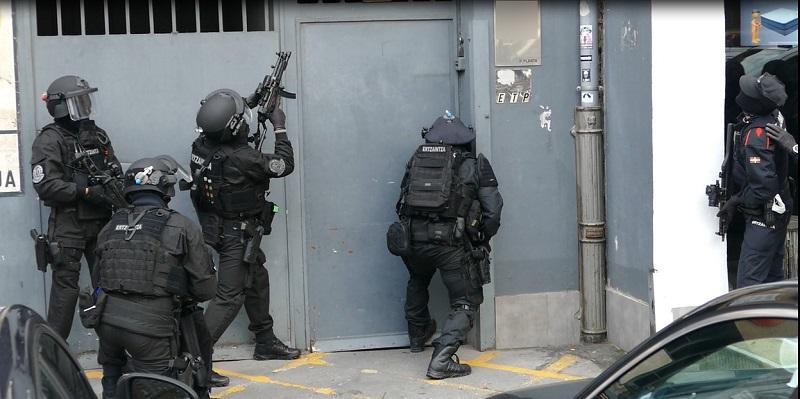 Imagen del operativo en Azpeitia. Foto: Ertzaintza