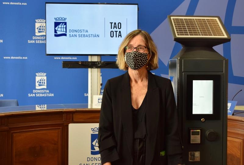 Pilar Arana el viernes presentando el nuevo servicios de la OTA. Foto: Ayto.