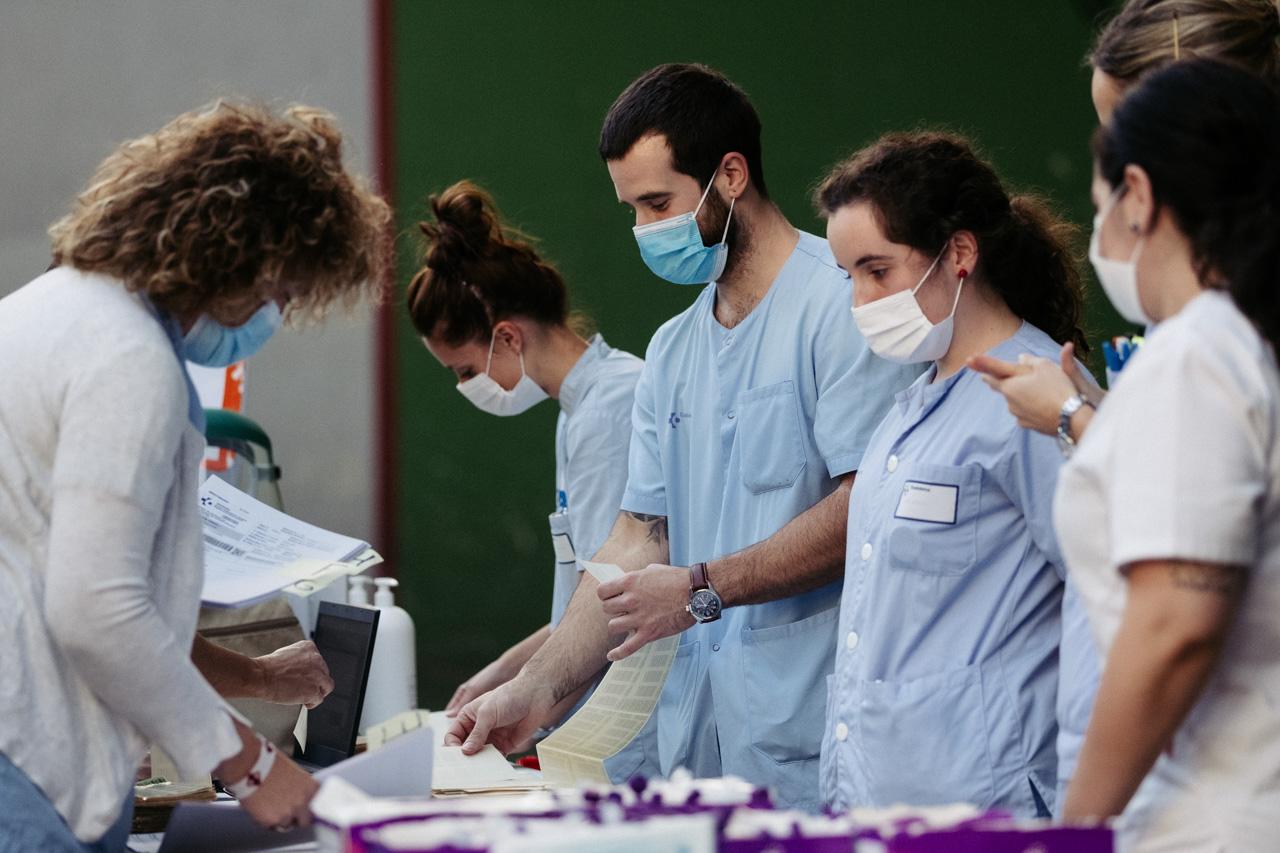 PCRs en Villabona. Foto: Santiago Farizano