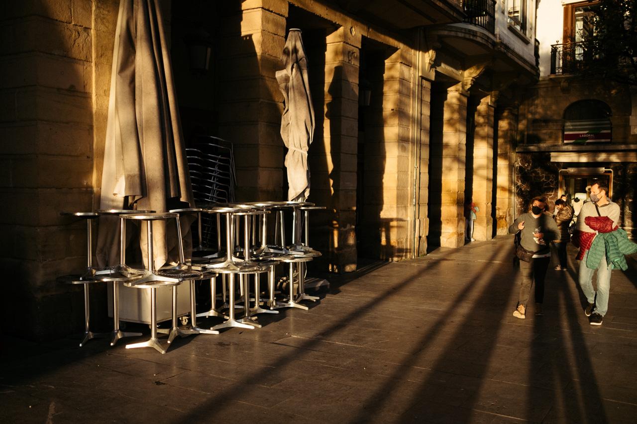 Hostelería cerrada. Foto: Santiago Farizano