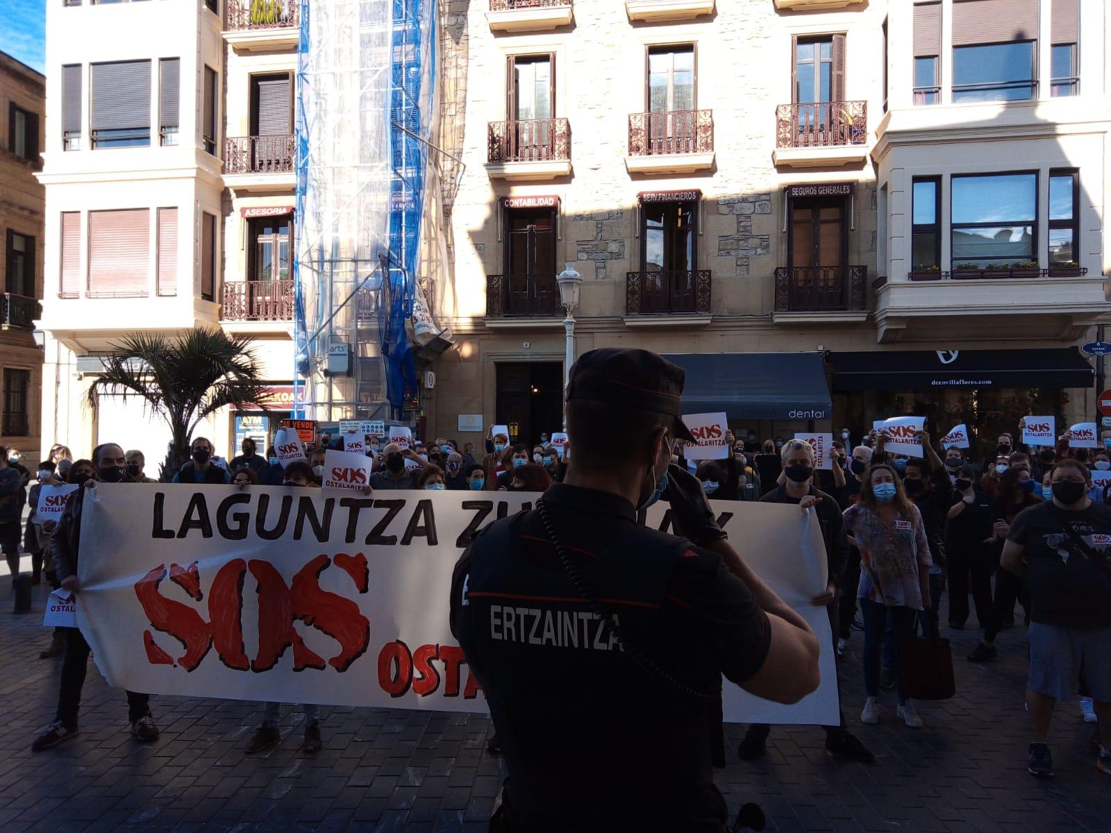 IMG 20201113 WA0008 - Los hosteleros vascos agudizan las protestas por la situación de cierre