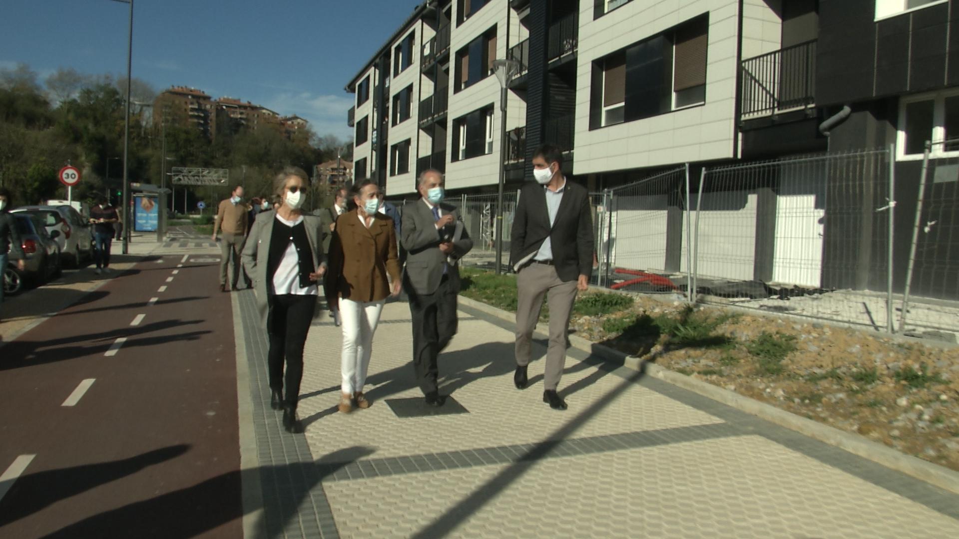 Visita oficial a Txomin esta mañana. Foto: Gobierno vasco